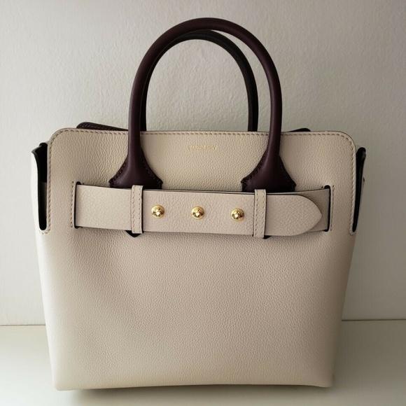 Burberry Handbags - Burberry 2019 Small Belt Leather Bag - Limestone